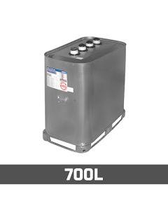 Olietank verzinkt: 700L - Dubbelwandig (metaal en kunststof)