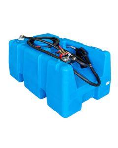 Mobiele tank voor 200 liter diesel, in kunststof - open model - met of zonder pomp