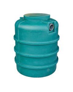 Ondergrondse ronde septic tank in kunststof van 1000 liter