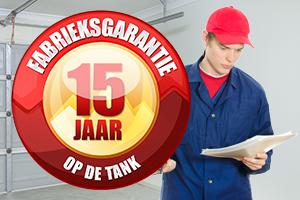 15 jaar fabrieksgarantie