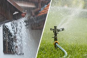 tank voor regenwater en tank voor tuinwater